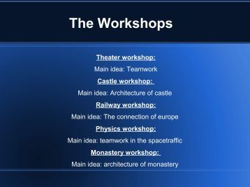The Workshops