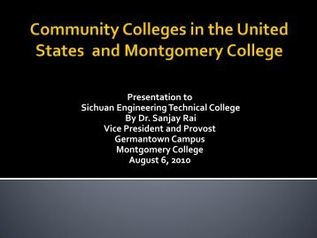 Community Colleges in the U. S. and Montgomery College