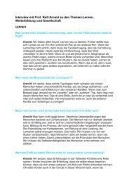 Interview mit Prof. Rolf Arnold zu den Themen Lernen - Cornelsen