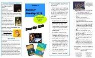 Summer Reading List 2012 - Totoket Valley Elementary School