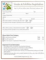 Vendor & Exhibitor Registration Form - Upper Valley Humane Society