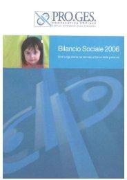 Bilancio Sociale Pro.Ges. 2006