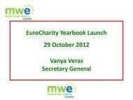 Presentation delivered by Ms. Vanya Veras, Secretary ... - EuroCharity