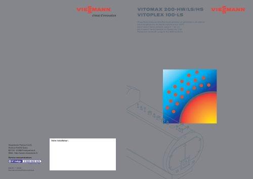 Prospectus produit3.8 MB - Viessmann