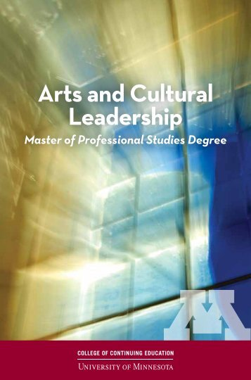 Arts and Cultural Leadership - College of Continuing Education