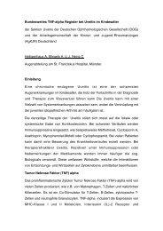 Bundesweites TNF-alpha Register bei Uveitis im Kindesalter der ...