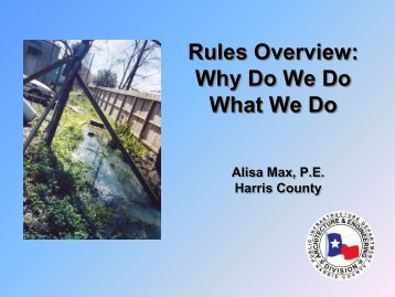 Wastewater Feasibility Investigation - Texas Onsite Wastewater ...