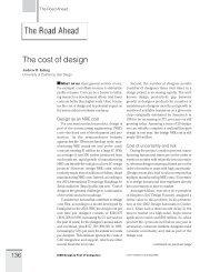 The cost of design - UCSD VLSI CAD Laboratory