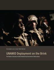 UNAMID Deployment on the Brink - Darfur Consortium