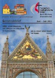 Gemeindebrief Jun-Jul 2011 - Zionsgemeinde