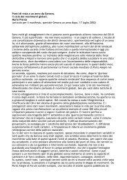 Punti di vista a un anno da Genova. Il ciclo dei movimenti globali ...