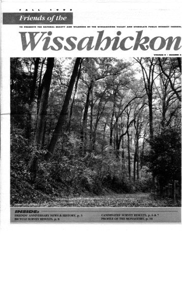 Fall 1995 Newsletter - Friends of the Wissahickon