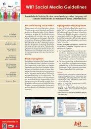 Download Produktblatt Social Media Guidelines - bit