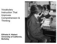 Vocabulary Instruction That Improves Comprehension ... - TextProject