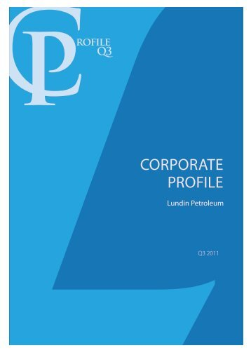 ROFilE Q3 - Lundin Petroleum