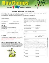 Day Camps Booking Form Jan 10.pub - Ontario Science Centre