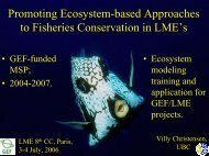 Promoting Ecosystem-based Approaches to Fisheries ... - NOAA