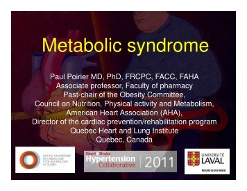 Metabolic syndrome - Heart and Stroke Foundation of Ontario