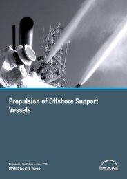 Propulsion of Offshore Support Vessels - MAN Diesel & Turbo