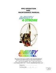 175 paramotor manual - Bailey Aviation