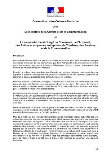 Convention cadre Culture - Tourisme entre Le ministère de la ...
