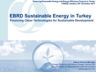 EBRD Sustainable Energy Initiative Istanbul RO offering