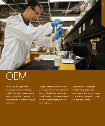 O E M For the Original Equipment Manufacturer with ... - Ocean Optics