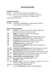 Lebenslauf von Anton Zeilinger (pdf) (14 KB)