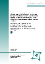 Group cognitive behavioural therapy for postnatal depression: a ...