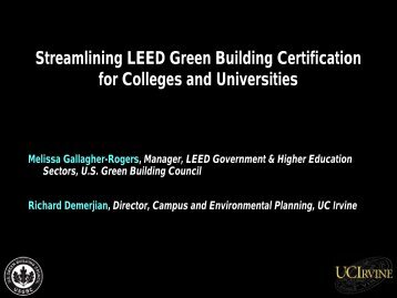 Streamlining LEED Green Building Certification for ... - NACUBO