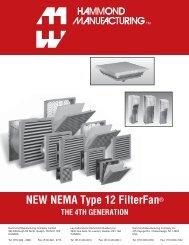 NEMA Type 12 FilterFan - Hammond Mfg.