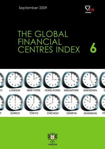 Global Financial Centres Index - 6 - Z/Yen