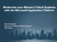 Microsoft Application Platform - CFIR
