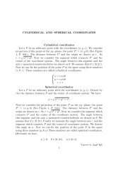 CYLINDRICAL AND SPHERICAL COORDINATES Cylindrical ...