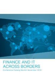 FINANCE AND IT ACROSS BORDERS - CFIR