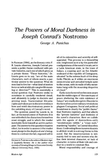 main motifs in joseph conrads heart of darkness By jenny sawyer in heart of darkness by joseph conrad, there's a lot of darkn.