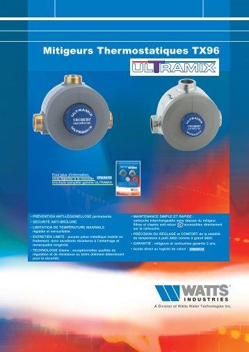 Mitigeurs Thermostatiques TX96 - Watts Industries