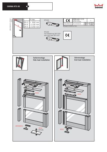 dorma rts85 installation instructions