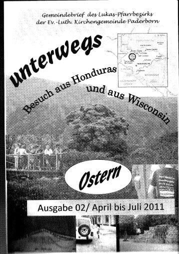 unterwegs 02 - 2011  (3,4 MB) - Ev. Lukas Pfarrbezirk Paderborn
