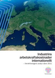 Industrins arbetskraftskostnader internationellt - Teknikföretagen