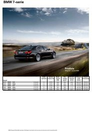 BMW 7-Serie Limousin Extrautrustning