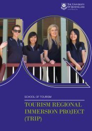 TOURISM REGIONAL IMMERSION PROJECT (TRIP) - School of ...