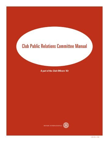 Club Public Relations Committee Manual - ClubExpress