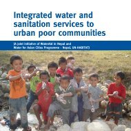 Integrated water and sanitation services to urban poor ... - WaterAid