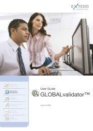 GLOBALvalidator User Guide - Extedo