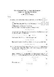 Musterlösung zur Vorlesung Analytische Geometrie Serie VI
