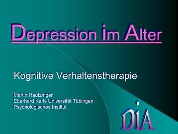 Psychotherapie der Depression im Alter Martin Hautzinger, Tübingen