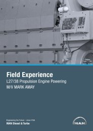 Field Experience L27/38 Propulsion Engine ... - MAN Diesel & Turbo
