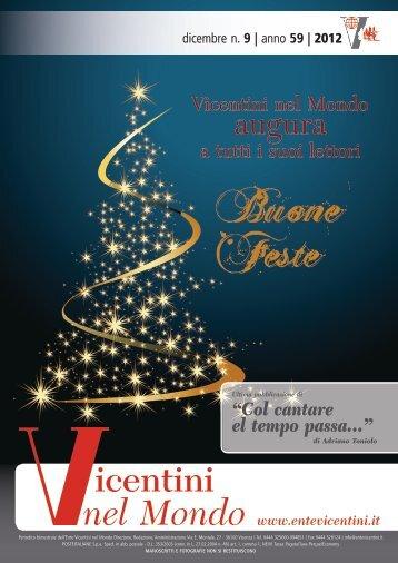 Clicca qui per il n. 9 2012 - Ente Vicentini nel Mondo