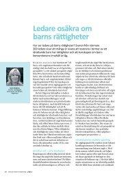 Ledare osäkra om barns rättigheter (2012) - GIH